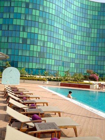 Hilton Capital Grand Abu Dhabi: ...kein Streit um besetzte Liegen oder Platz im Pool ;-)
