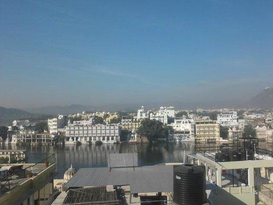 Poonam Haveli: view from roof top restaurant