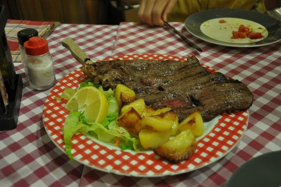 La Forchetta d'Oro: Grilled beef steak