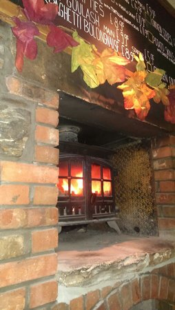 McKays: The fireplace in the pub