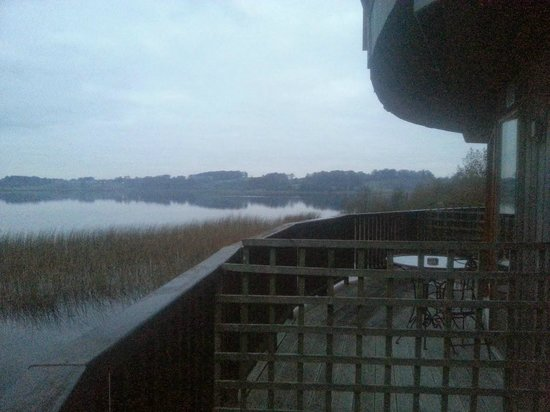 Wineport Lodge: standing on the deck/terrace outside our room