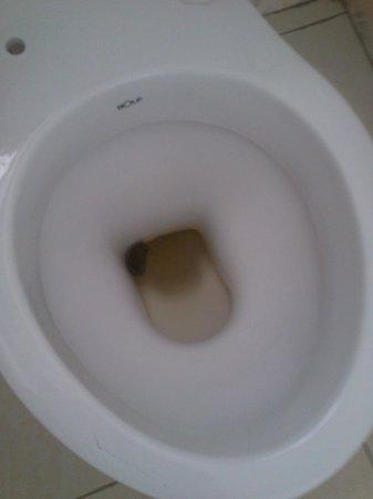 La Jardine Hotel: no toiletseat, was broken off and still shit in the toilet