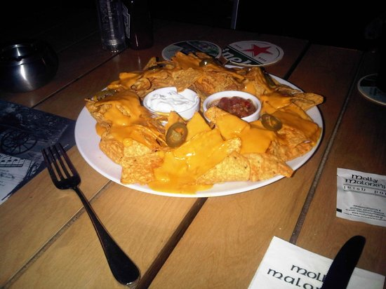 Molly Malone's: Small Nachos... SMALL NOW