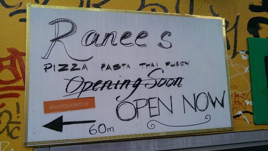 Ranee's Restaurant: direction at former location