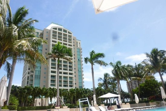 The Ritz-Carlton Coconut Grove, Miami : depuis la piscinee