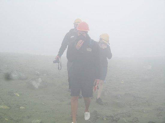 White Island Volcano: Choking fumes