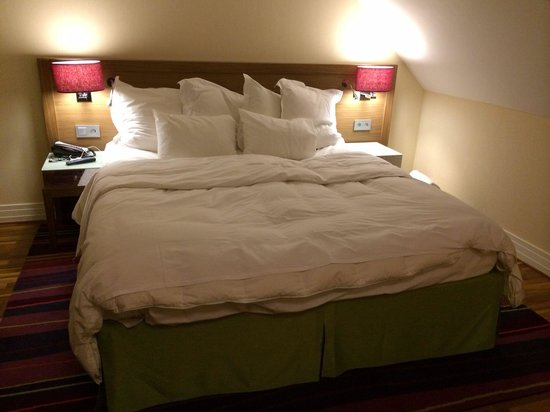 Renaissance Malmo Hotel: Comfy bed with lovely feather duvet