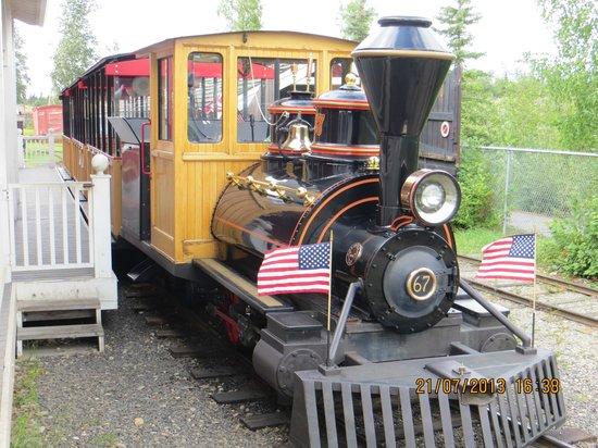 Pioneer Park: trenino x il trasporto turisti