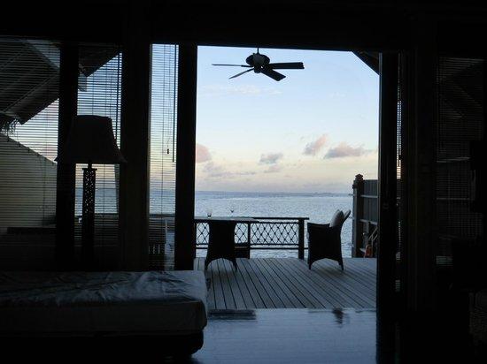 Shangri-La's Villingili Resort and Spa Maldives: terrasse of the villa