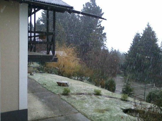 Aldea Andina: Nevando