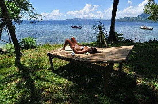Raja Laut Dive Resort : relaxing after diving