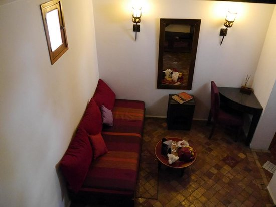 Riad Kalaa: The downstairs area in La Courtisane room