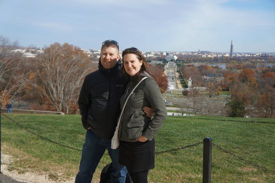 DC by Foot: View over DC from the Arlington House.
