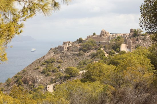 Batería de Castillitos: Castillito overlooking the sea