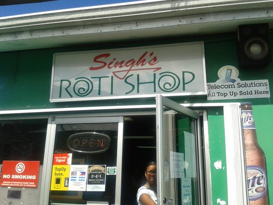 Singh's Roti Shop & Bar: The front entryway