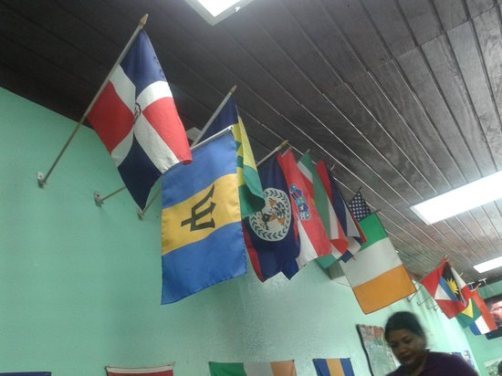 Singh's Roti Shop & Bar: Don't forget to bring your flag just in case it isn't up!