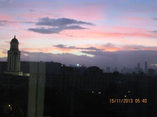 The Bayleaf Intramuros: sunset from room