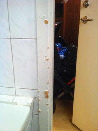 Scandic Crown : Vacker dörrfoder i badrummet