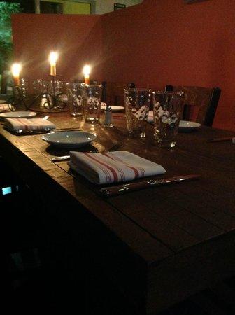 Cinque Terre Italian Restaurant: Our dining room at night