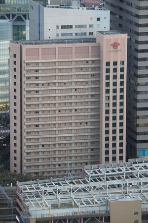Hearton Hotel Nishi Umeda: A view of the Hotel from the Umeda Sky Building.