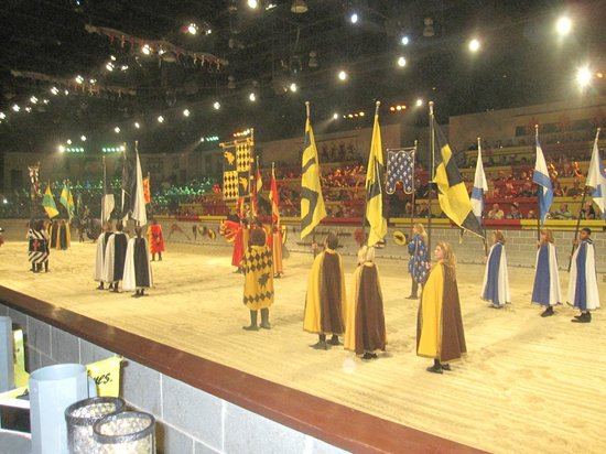 Medieval Times Maryland Castle: arena with contestants