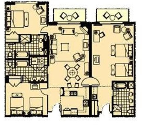 3 bedroom suite floor plan picture of marina inn at grande dunes myrtle beach tripadvisor for 1 bedroom suites in myrtle beach sc