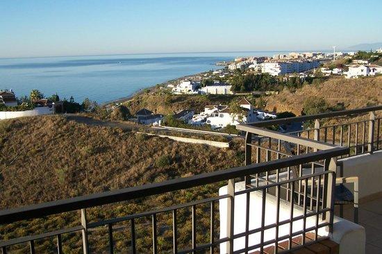 Apartamentos Fuerte Calaceite : Blick Richtung Torrox Costa