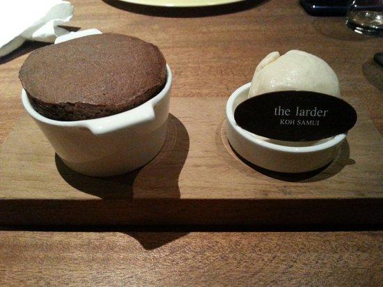 The Larder : Chocolate souffle