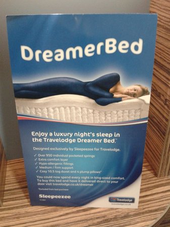 Travelodge Aylesbury Central: Dreamer Bed advert