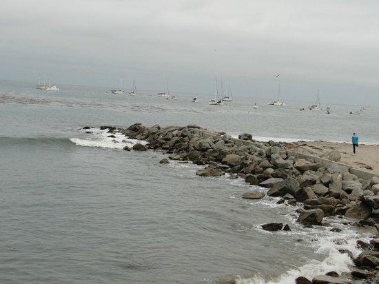 Capitola City Beach : A foggy morning