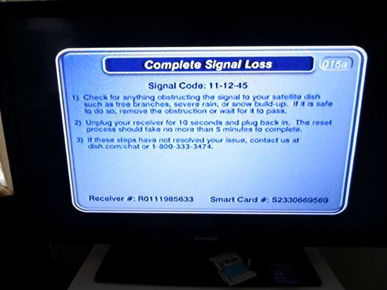 Retreat Guesthouse Luxury Suites: TV/Cable signal loss - frequent occurance