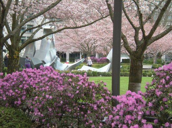 Oregon State Capitol : Flowers and blossoms