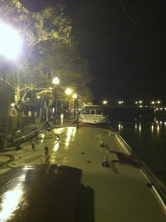 Mid-Lakes Navigation: Canal Boat Seneca nestled in at Seneca Falls!
