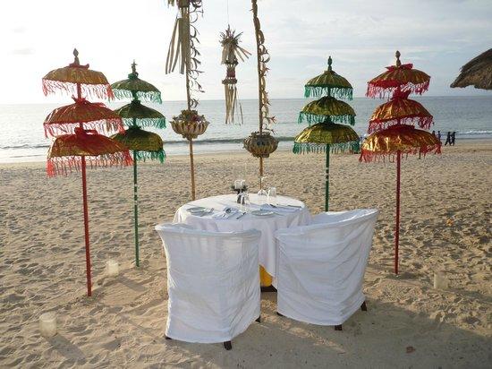 Belmond Jimbaran Puri : Mesa dispuesta para nosotros