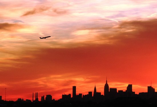 Manhattan Skyline: NYC sunset as seen from the Bronx this November