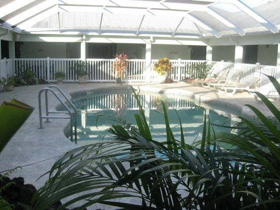 Ivey House: la piscina nel patio