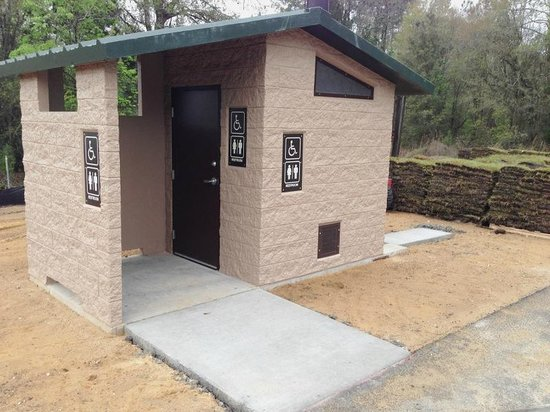 Gen. James A. Van Fleet State Trail: New restroom at bay Lake trail head, Same at Polk City th