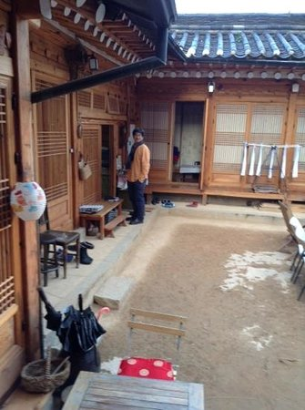 Namhyundang Guesthouse: Mr. Lee outside the kitchen