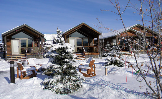 Explorer Cabins at Yellowstone - Winter Exterior