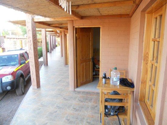 La Casa de Mireya: Varanda do apartamento.