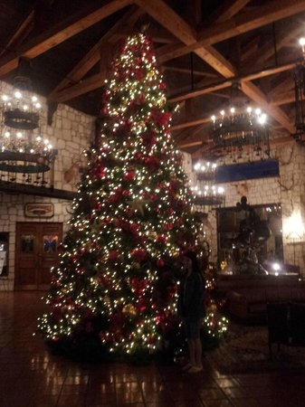 Y O Ranch Hotel & Conference Center: Christmas Tree in Lobby