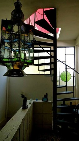 La Islita Boutique Hotel: Staircase leading to the rooftop terrace