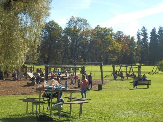 Wasserspiele Hellbrunn: Zona recreativa cerca del castillo