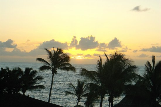 Coconut Bay Beach Resort & Spa: A beautiful sunrise from the balcony.