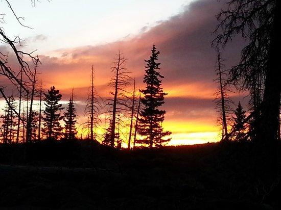 Cedar Breaks National Monument : Sunset looking towards the breaks.