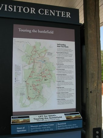 Centro de Visitantes y Museo Gettisburg: Introduction to the Battlefield with free Maps