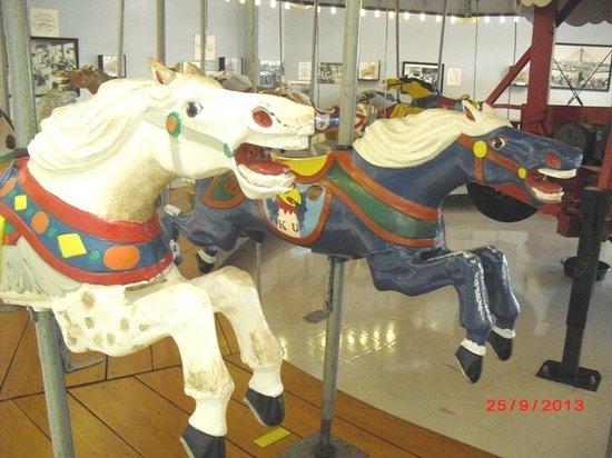C.W. Parker Carousel Museum: 1950's aluminum carousel