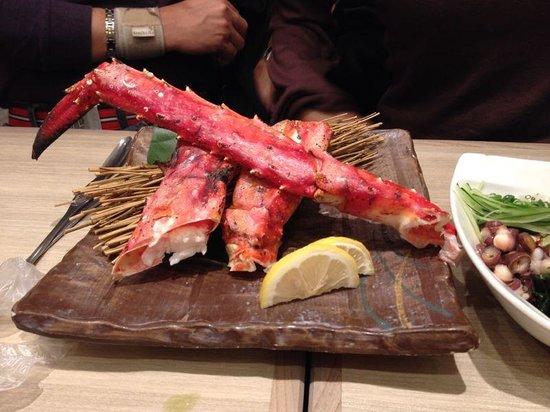 Umegaoka Sushino Midori Ginza: crab