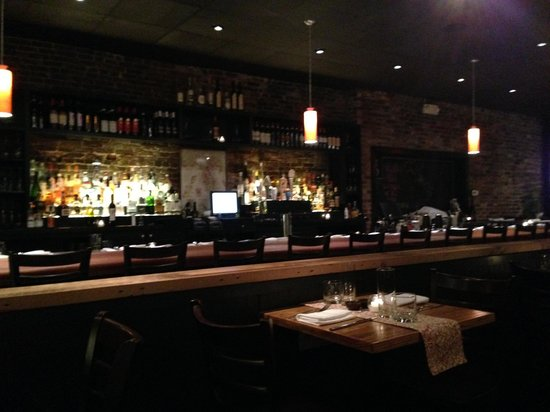 the handsome and rarely empty bar at giulia picture of giulia
