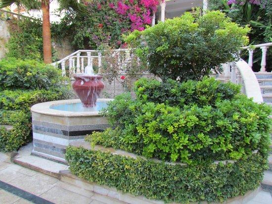 Amra Palace Hotel: Hotel front garden